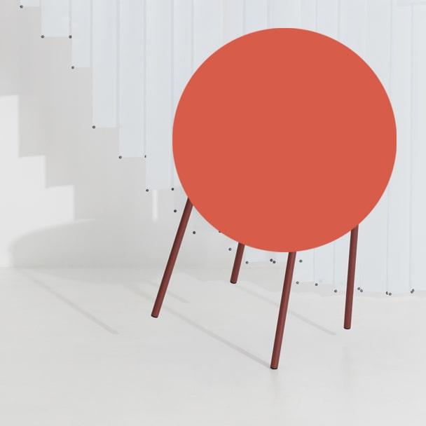 Chaise métal FROMME-brun