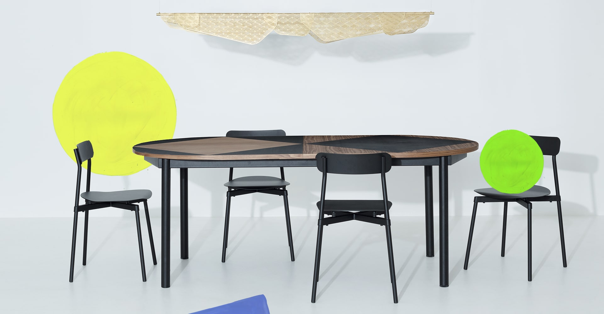 Tavla table and Fromme chairs
