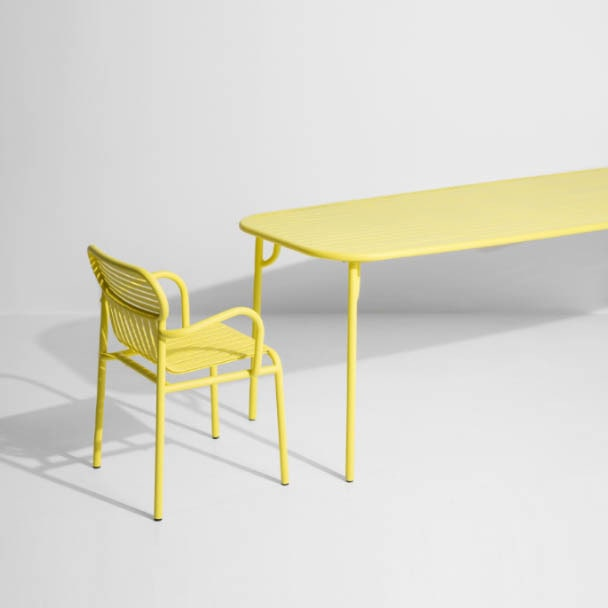 Yellow garden chair and table - Petite Friture