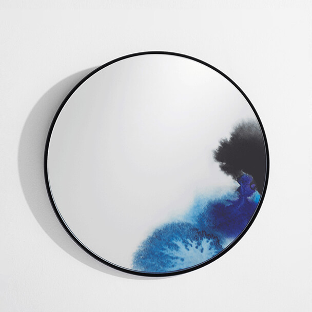 Petit miroir Francis bleu