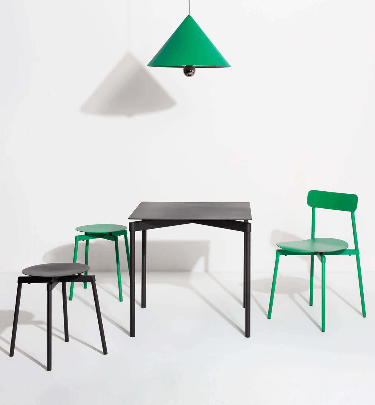 Black Fromme collection and mint green Design furniture - Petite Friture