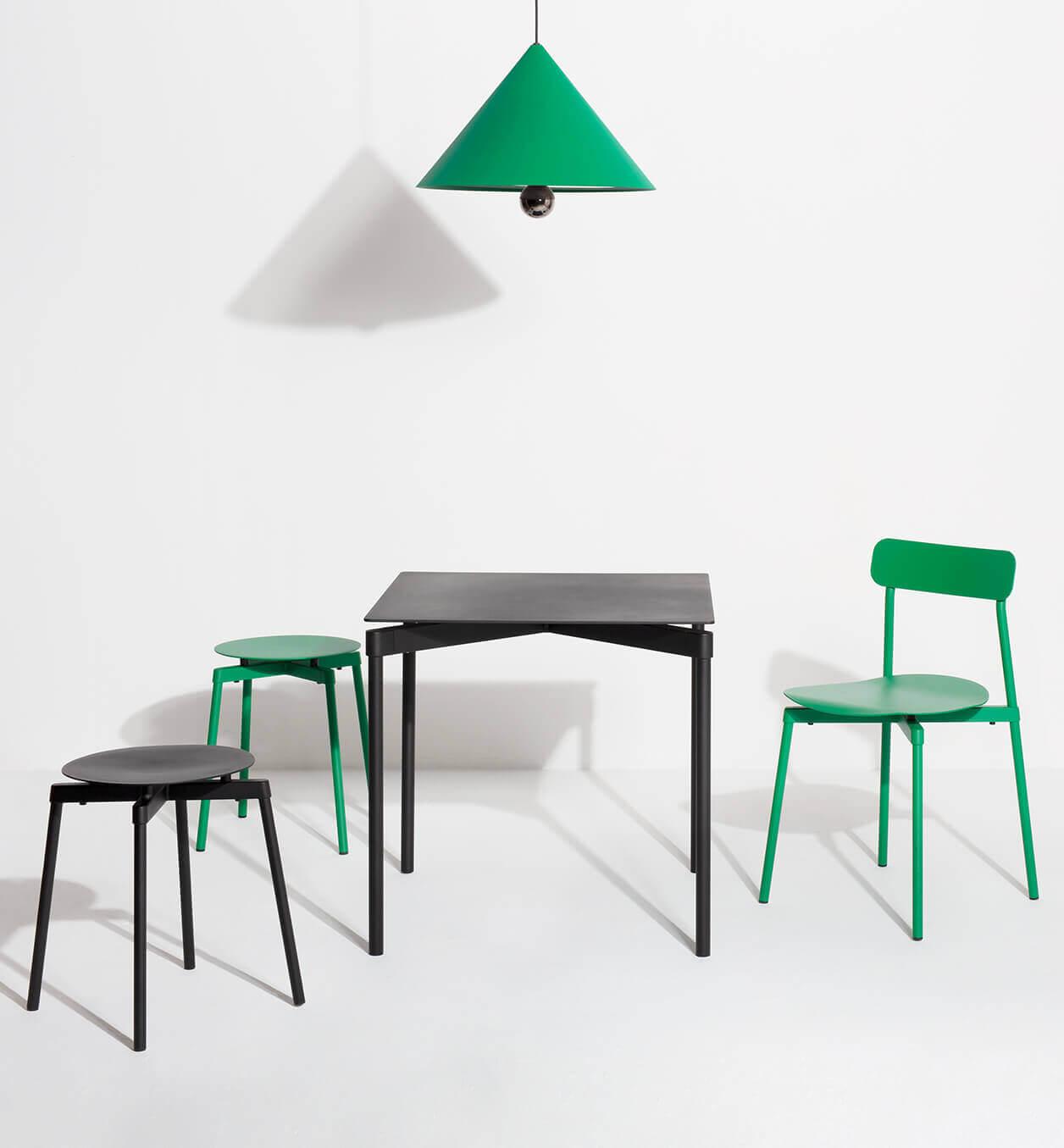 Collection Fromme noir et vert menthe - Mobilier design Petite Friture