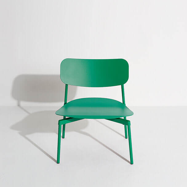 Fromme lounge armchair mint green in aluminium- Tom Chung