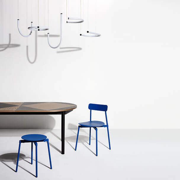 Unseen pendant lights and Tavla table - Petite Friture